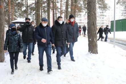 Губернатор проверил благоустройство двух парков в Дзержинске