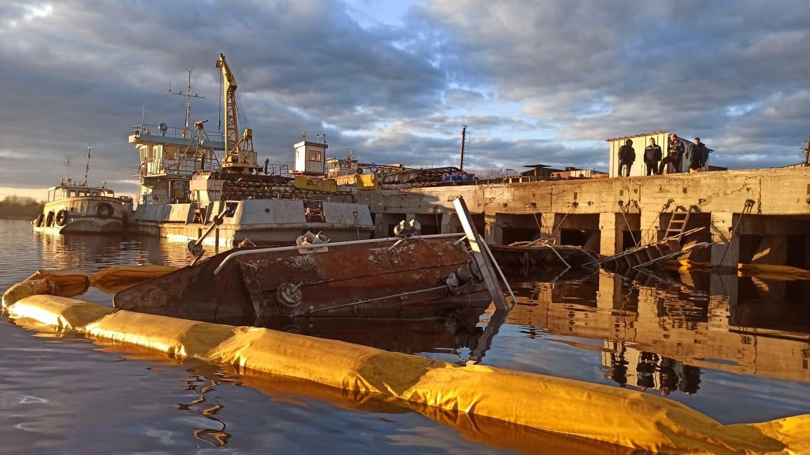 Буксир затонул на Волге в Городецком районе - фото 1