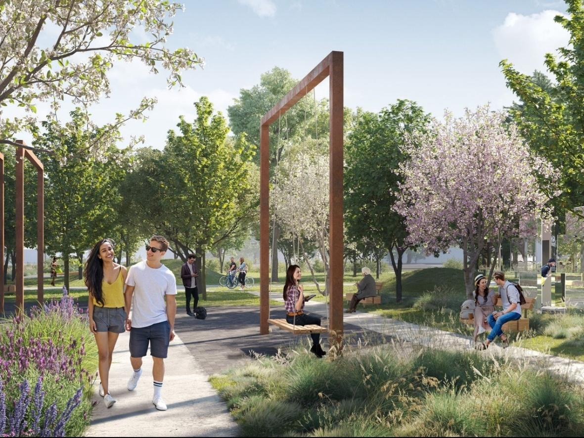 Индустриальные арт-объекты, скейт-парк и перголы: представлена итоговая концепция площади Героев - фото 1