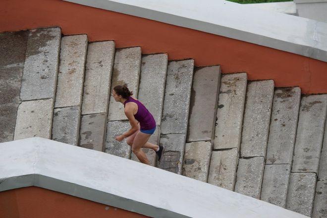 Нижегородец Николай Бурда в 16-й раз выиграл забег по Чкаловской лестнице - фото 14