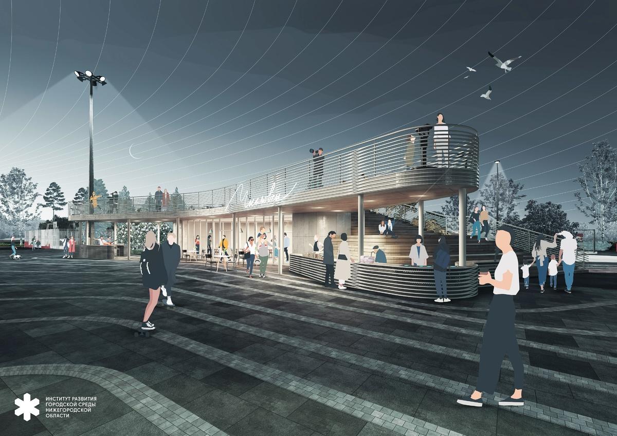 Волнорез с арт-объектом и мостки над водой: каким видится будущее пристани в Чкаловске - фото 1