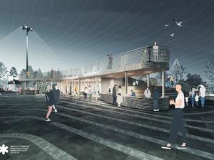 Волнорез с арт-объектом и мостки над водой: каким видится будущее пристани в Чкаловске