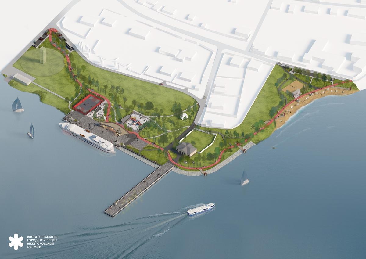 Волнорез с арт-объектом и мостки над водой: каким видится будущее пристани в Чкаловске - фото 2