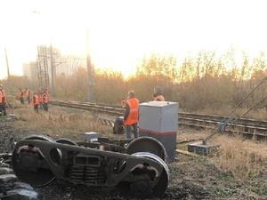 Вагон поезда сошел с рельсов на станции Сергач