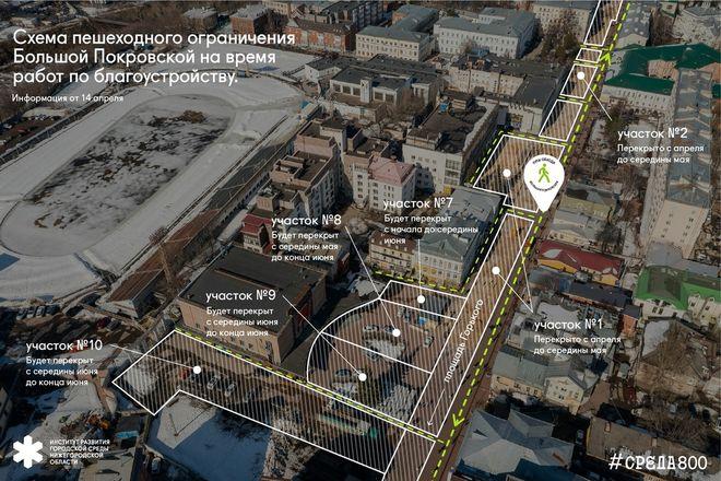 Разработаны схемы ограничений на время благоустройства территорий в Нижнем Новгороде - фото 6
