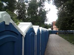 «Нашествие» синих кабинок: более 120 биотуалетов установили на площади Минина (ФОТО)