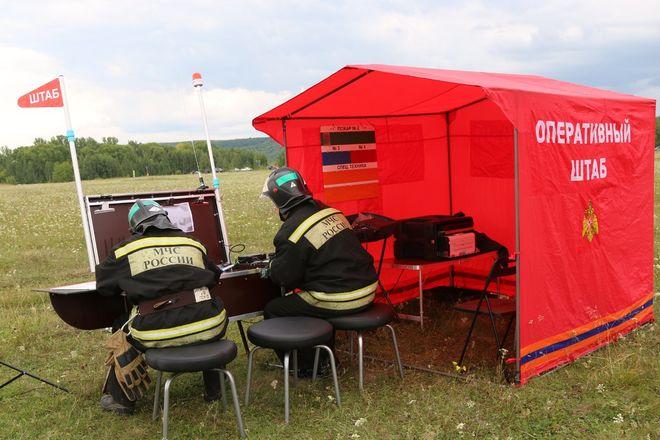 На вертолетах и квадроциклах: пожарные боролись с условным лесным возгоранием под Дзержинском - фото 10