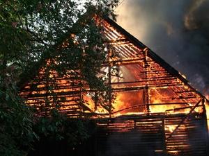 Труп мужчины обнаружили в сгоревшем доме Спасского района