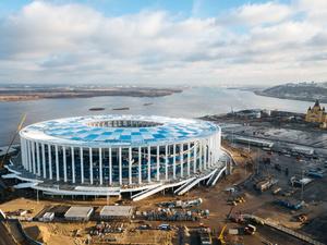 Ветрозащитные мембраны установили на стадионе «Нижний Новгород»