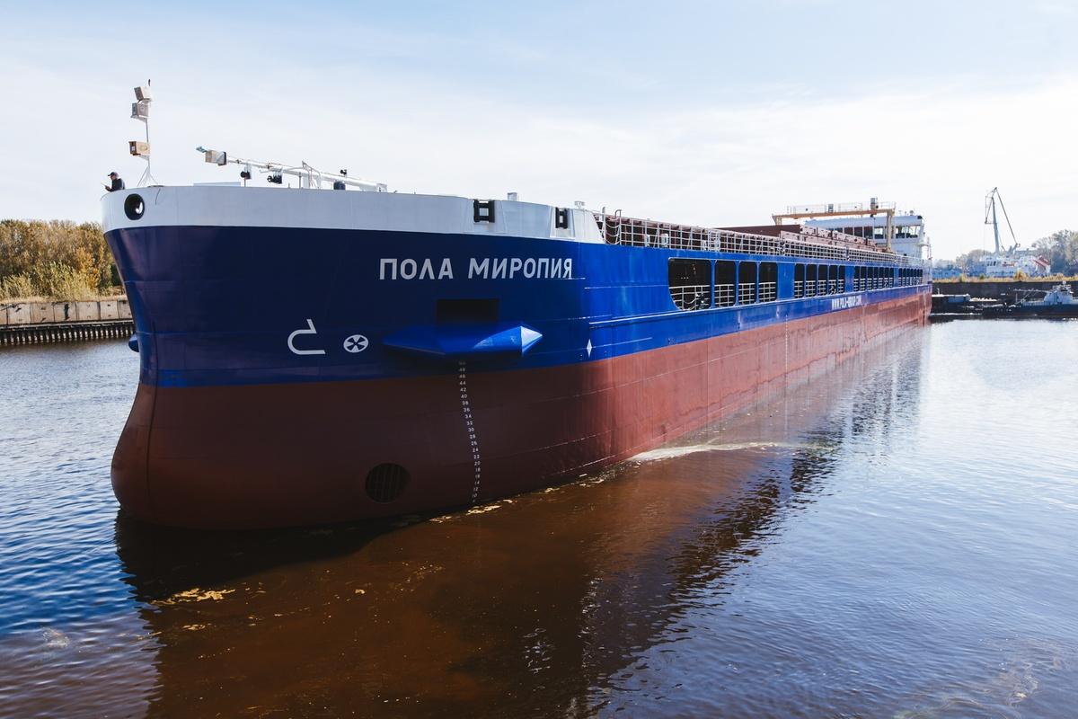 Юбилейный сухогруз проекта RSD59 «Пола Миропия» спустили на воду на «Красном Сормове» - фото 1