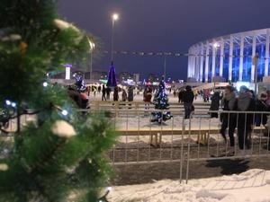 Рождественский городок и современный каток открылись на территории стадиона «Нижний Новгород»