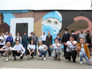 Стрит-арт о борьбе с пандемией появился в Нижнем Новгороде